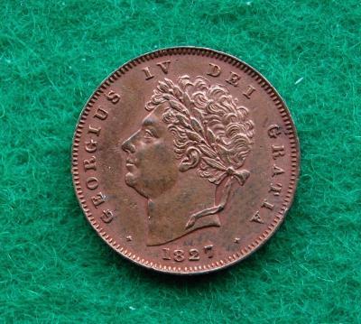 Velká Británie - 1/3 farthing 1827