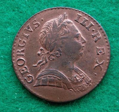 Velká Británie - 1/2 penny 1773