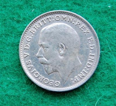 Velká Británie - 3 pence 1917