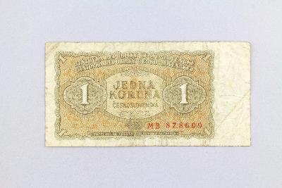 ČESKOSLOVENSKO // 1 Kčs 1953 MB / neperf. /143