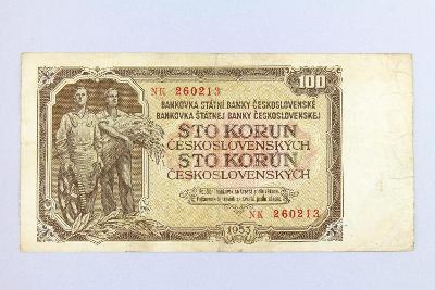 ČESKOSLOVENSKO // 100 Kčs 1953 NK / neperf. /146