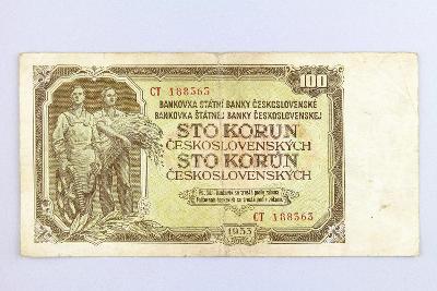 ČESKOSLOVENSKO // 100 Kčs 1953 CT / neperf. /147