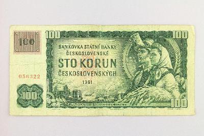 ČESKOSLOVENSKO // 100 Kčs 1961 G 13 s kolkem ČSFR / neperf. /150