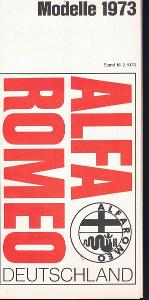 Alfa Romeo - přehled modelů 1973