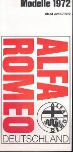Alfa Romeo - přehled modelů 1972