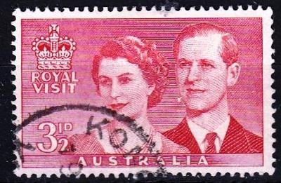 Austrálie 1954 Mi.242 prošla poštou