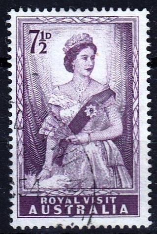 Austrálie 1954 Mi.243 prošla poštou