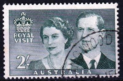 Austrálie 1954 Mi.244 prošla poštou
