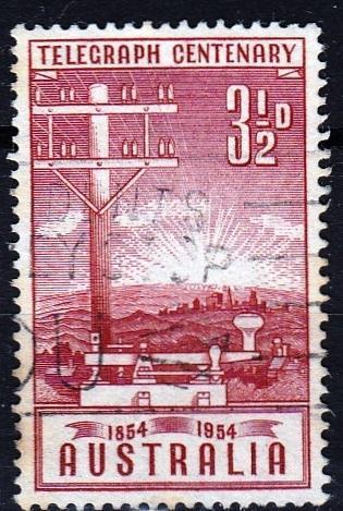 Austrálie 1954 Mi.245 prošla poštou