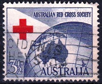 Austrálie 1954 Mi.246 prošla poštou