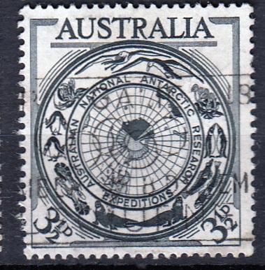 Austrálie 1954 Mi.249 prošla poštou