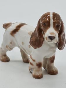 Porcelánová soška, figurka pes Královská Kodaň