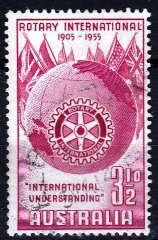 Austrálie 1955 Mi.251 prošla poštou