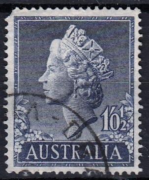 Austrálie 1955 Mi.252 prošla poštou