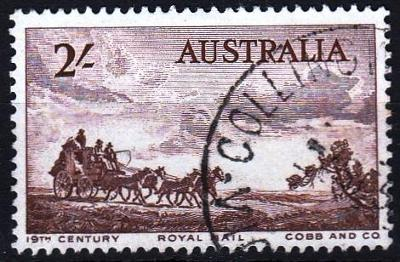 Austrálie 1955 Mi.255 prošla poštou