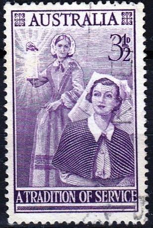 Austrálie 1955 Mi.257 prošla poštou