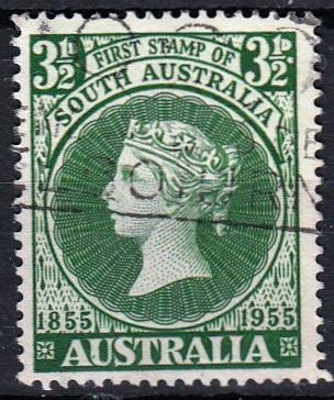 Austrálie 1955 Mi.258 prošla poštou