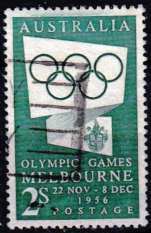 Austrálie 1955 Mi.259 prošla poštou, OH, olympiáda