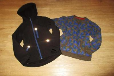 Chlapecká softsheloová bunda OKAY + mikina JOHN LEWIS - 122/128
