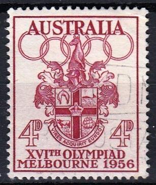 Austrálie 1956 Mi.266 prošla poštou, OH, olympiáda