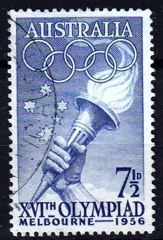 Austrálie 1956 Mi.267 prošla poštou, OH, olympiáda
