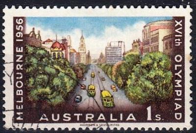 Austrálie 1956 Mi.268 prošla poštou, OH, olympiáda