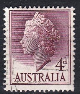 Austrálie 1957 Mi.273 prošla poštou