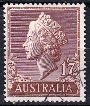Austrálie 1957 Mi.275 prošla poštou