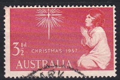 Austrálie 1957 Mi.279 prošla poštou