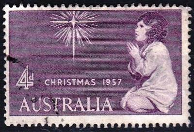Austrálie 1957 Mi.280 prošla poštou
