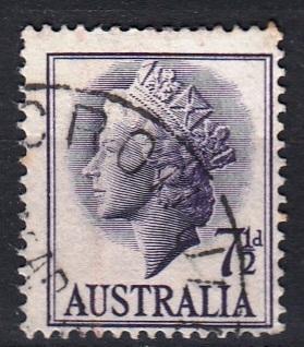 Austrálie 1957 Mi.A 280 prošla poštou