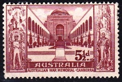 Austrálie 1958 Mi. 282 prošla poštou