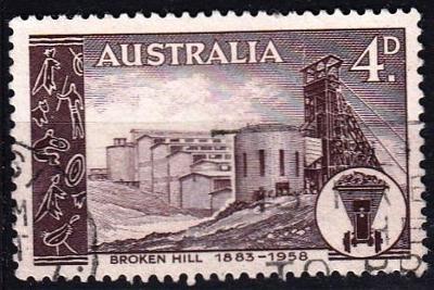 Austrálie 1958 Mi. 285 prošla poštou