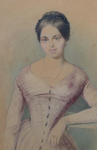 Mladá dáma, Josef Bekel,1857