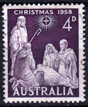 Austrálie 1958 Mi. 287 prošla poštou