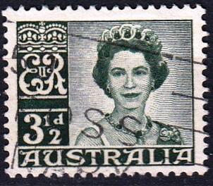 Austrálie 1959 Mi. 290 prošla poštou