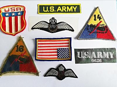nášivky a jiné předměty, GB, U.S. Army, originál !!!
