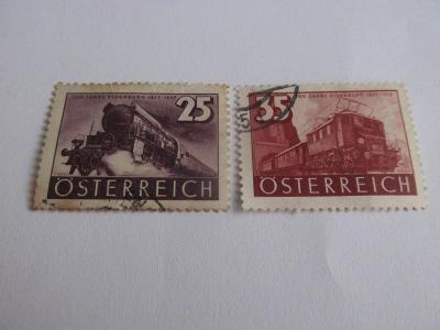 Prodávám známky Rakousko 1937, Železnice, 100 let rakouských drah