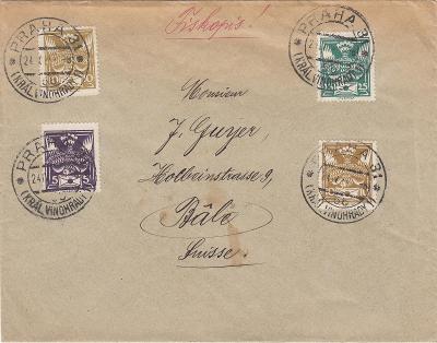 ČSR I - tiskopis do Švýcarska