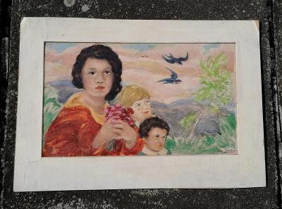 Akvarel - Jarní motiv, Rudolf Tichý