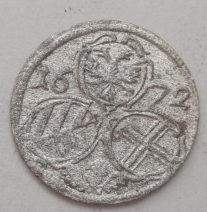 1/2 krejcar 1672 Viedeň Leopold I. TOP