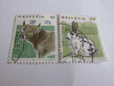 Prodávám známky  Švýcarsko 1991, Zvířata