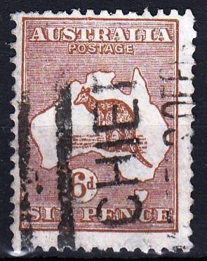 Austrálie 1929 Mi.82 prošla poštou, katalog 6€/ 150 Kč