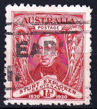 Austrálie 1930 Mi.91 prošla poštou