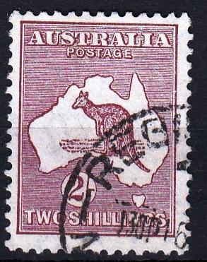 Austrálie 1931 Mi.107 prošla poštou
