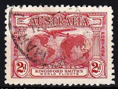 Austrálie 1931 Mi.95 prošla poštou