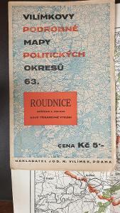 Vílímkovy podrobné mapy politických okresů 1935-Roudnice-Litoměřice