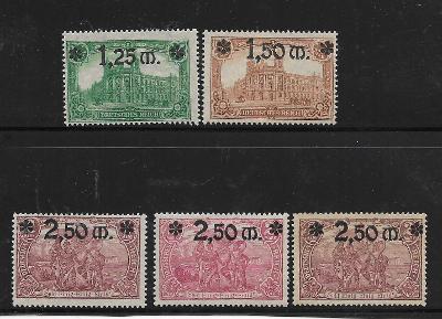 Deutsches Reich:Mi.Nr. 116-118  **  3x 118 * lepid