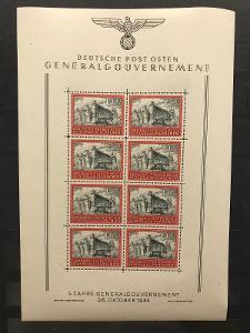 GG, Generalgouvernement, Mi. 125 Kleinbogen 4!!!
