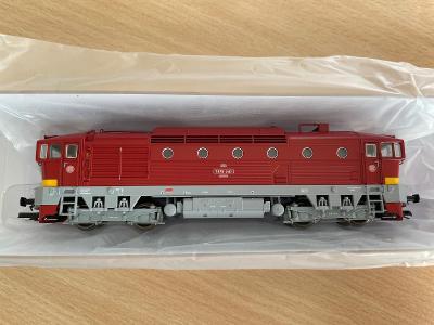 NOVÝ TT - lokomotiva T478.3187 červená, ČSD Brejlovec / KUEHN 33319
